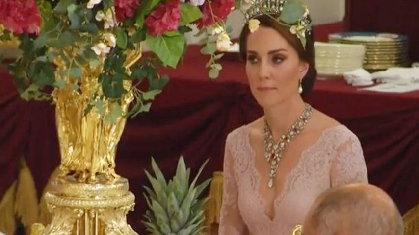 Duchess of Cambridge with the Ruby and Diamond Floral Bandeau Necklace